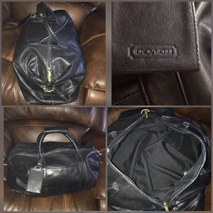 Coach leather traveling bag